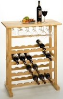Modern Lines/ Wine Rack 24 Bottle Wine & Stemware Rack
