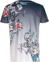 River Island Boys Blue floral snake short sleeve T-shirt