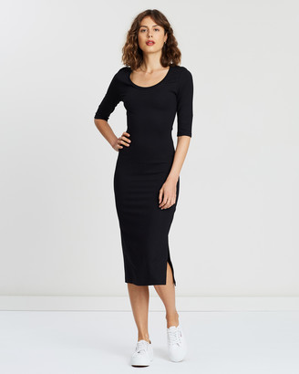 Atmos & Here Kim Scoop Neck Midi Dress