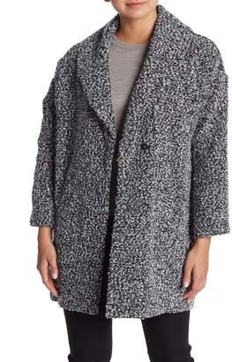 Susina Brushed Tweed Coat (Regular & Petite)