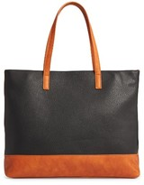 Sole Society Aurelai Colorblock Faux Leather Tote - Black