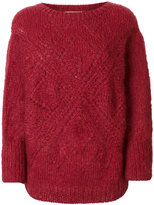 Mes Demoiselles lace knit sweater
