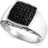 Effy Gento by Men's Black Sapphire Ring (1 ct. t.w.) in Sterling Silver