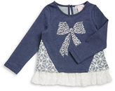 Design History Girls 2-6x Bow Studded Top
