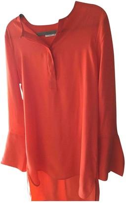 Equipment Orange Silk Top for Women