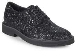 Giuseppe Zanotti Leather Glitter Derby Shoes