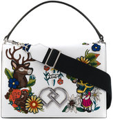 DSQUARED2 embroidered DD crossbody bag - women - Leather - One Size