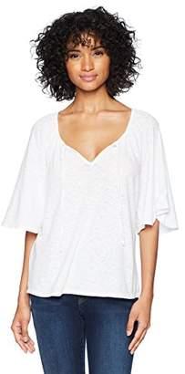 Three Dots Women's eco Knit Short Loose Peasant top