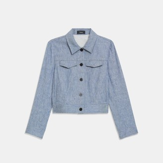 Theory Jean Jacket in Linen Denim