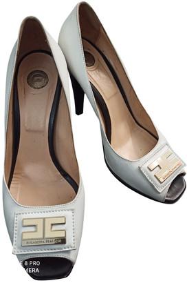 Elisabetta Franchi White Leather Sandals