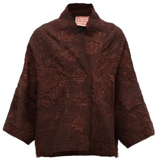 By Walid Cassie Piano-shawl Silk Jacket - Brown