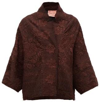 By Walid Cassie Piano-shawl Silk Jacket - Womens - Brown