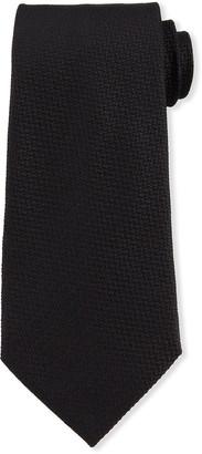 Ermenegildo Zegna Pebble Weave Silk Tie