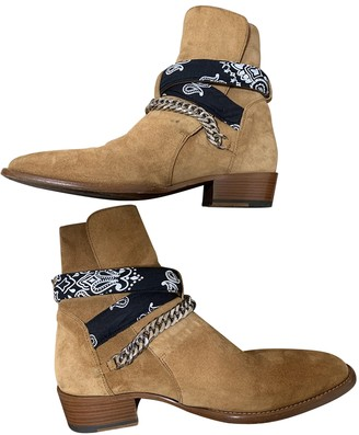 Amiri Brown Suede Boots