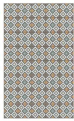 Camilla And Marc Huella Deco h1024-ca-xs cementine Rug Carpet Mat Floor, Vinyl, 57 x 96 cm