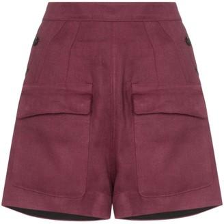 Golden Goose Lorena flap-pocket linen shorts