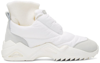 Maison Margiela White Puffer Sneakers