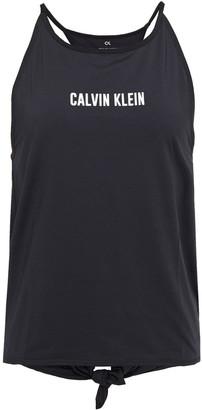 Calvin Klein Cutout Printed Stretch-jersey Tank
