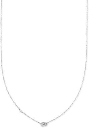 Kendra Scott Love Knot 14K Gold Short Pendant in White Diamond