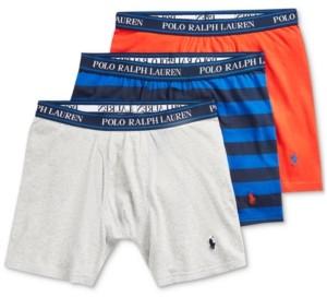 Polo Ralph Lauren Men's 3-Pack Classic Fit Stretch Boxer Briefs
