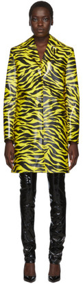 Kwaidan Editions Yellow and Black Tiger Car Coat