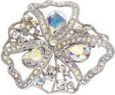 Krustallos Filigree Antique Style Brooch with Swarovski Crystals (Opal)