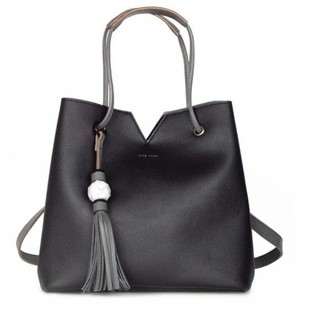 Jasmine Bag With Marble Tassel - Black