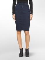 Calvin Klein Dark Wash Denim Skirt