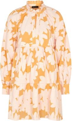 Stine Goya Jasmine printed cotton-blend mini dress