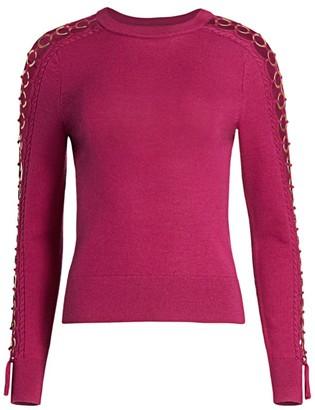 Jonathan Simkhai Cutout-Sleeve Wool Sweater
