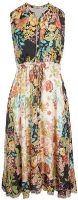Johnny Was Serena Floral Silk Dress