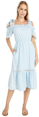 BCBGeneration Off-the-Shoulder Day Dress - TSO6278158 (Light Wash) Women's Dress