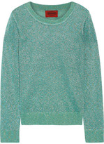 Missoni Metallic Crochet-knit Sweater - Turquoise