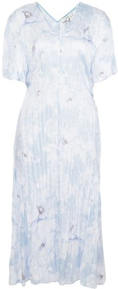 Vince Crinkled Effect Midi Dress