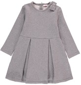 Il Gufo Bow Shoulder Polka Dot Dress
