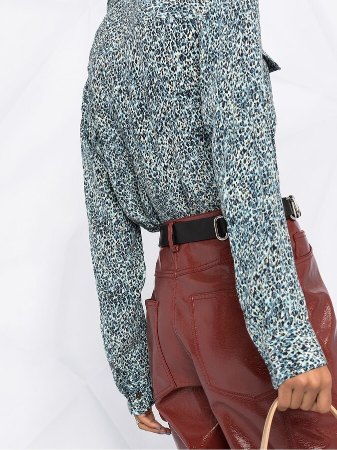 Thumbnail for your product : Equipment Abstract-Print Long Sleeved Shirt