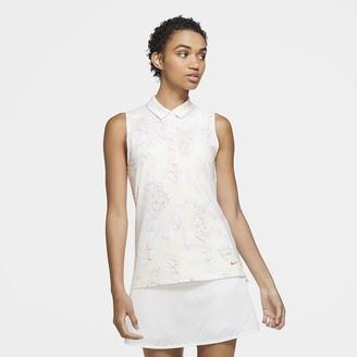 Nike Women's Sleeveless Printed Golf Polo Dri-FIT