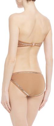 Norma Kamali Eric Studded Low-rise Bikini Briefs