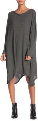 Go Couture Long Sleeve Oversized Sharkbite Dress