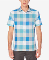 Perry Ellis Men's Buffalo-Plaid Short-Sleeve Shirt