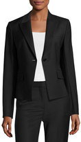 Theory Brince B Continuous Single-Button Blazer, Black