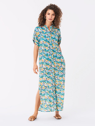 Diane von Furstenberg Renee Cotton-Blend Maxi Beach Dress