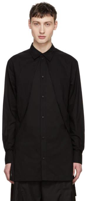 D.gnak By Kang.d Black Long Panel Shirt