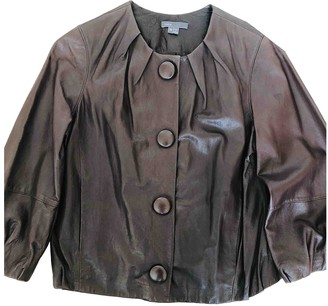 Vince Burgundy Leather Jackets