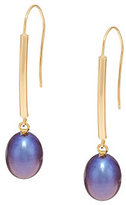 Honora 14K Gold Cultured Pearl 9.0mm Drop Dangle Earrings