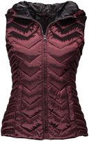 Blanc Noir Wine Quilted Zip-Up Vest