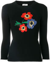 Sonia Rykiel floral intarsia jumper