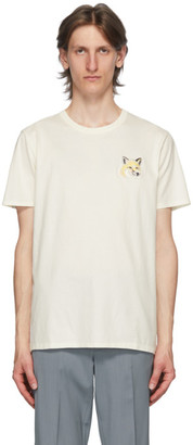 MAISON KITSUNÉ Off-White Big Pastel Fox Head Patch T-Shirt