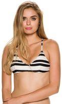 RVCA Stripe Out Cross Back Bikini Top