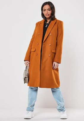 Missguided Rust Oversized Formal Coat